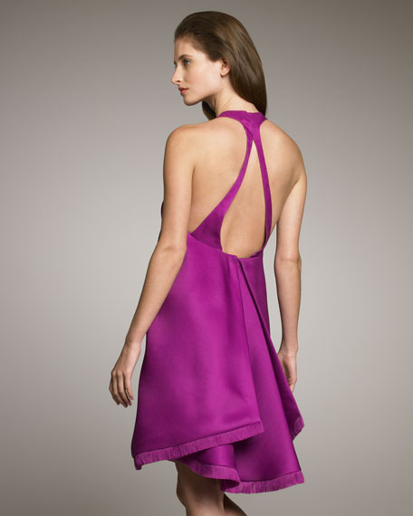 Open-Back Shirttail Dress