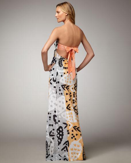 Krystal Grape-Print Maxi Dress