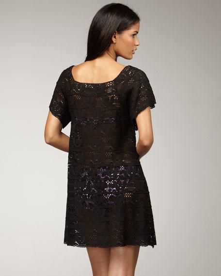 Crochet Coverup, Black