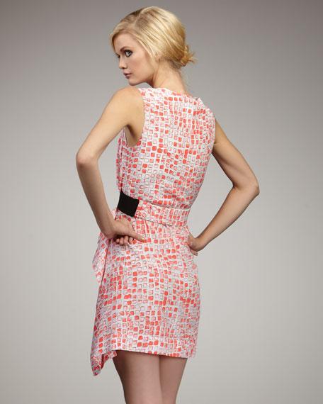 Alba Square-Print Dress