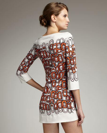 Ruri Chain-Print Silk Dress