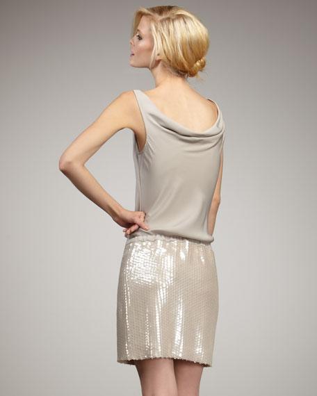 Tadd Sequin-Skirt Dress