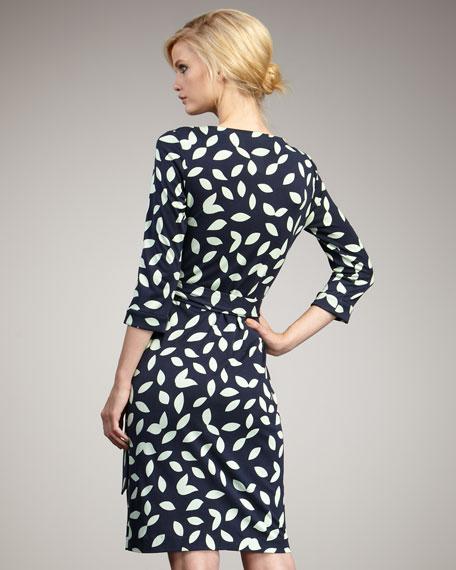 New Julian Wrap Dress, Little Leaves