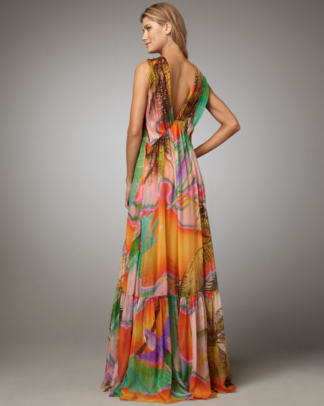 Printed Maxi Coverup