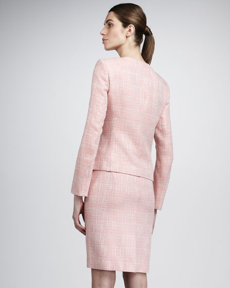 Boucle Ruffle-Front Suit