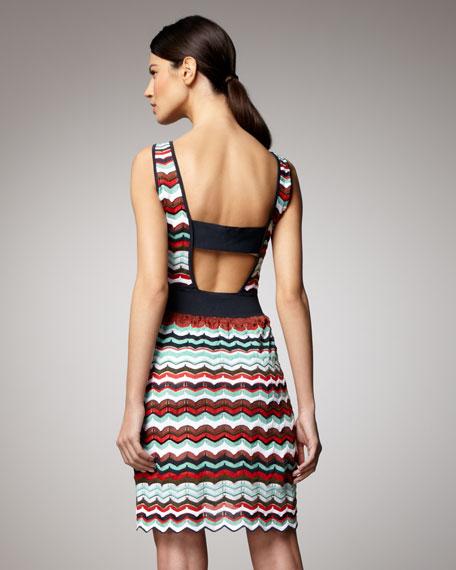 Zigzag Sleeveless Dress