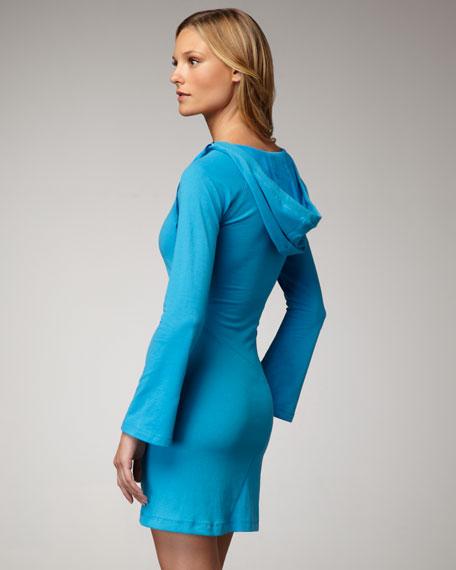 Hooded V-Neck Dress