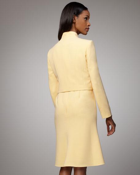 Long-Sleeve Jacket & Belted Dress