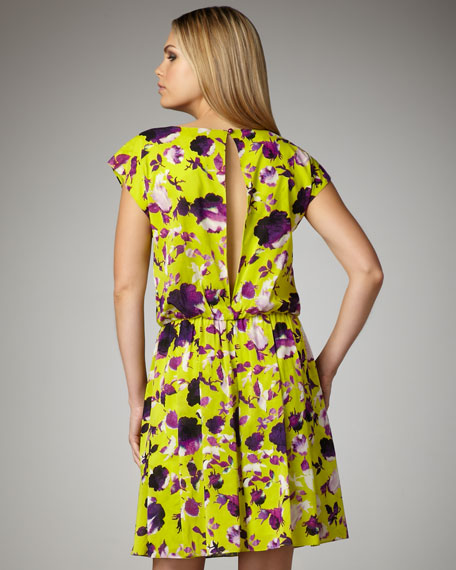 Corinne Floral Blouson Dress