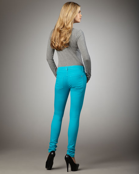 Skinny Pants, Tile Blue