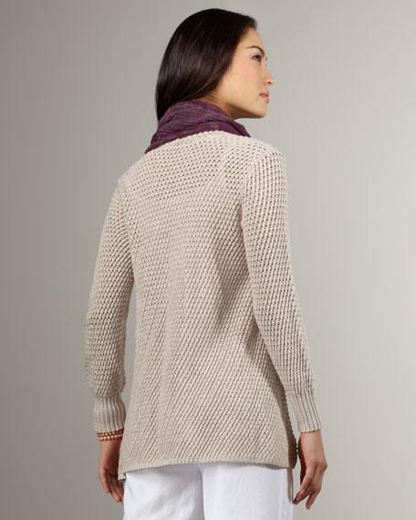 Melange Cotton Cardigan, Petite