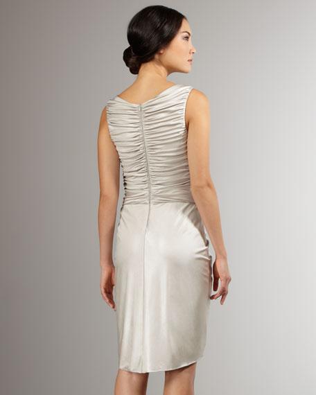 Mirror-Detail Satin Dress