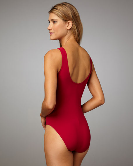 Rope-Laced One-Piece Swimsuit