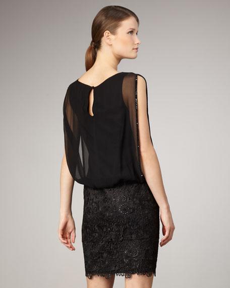 Chiffon & Lace Combo Dress