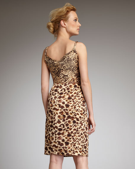 Leopard-Print Cocktail Gown