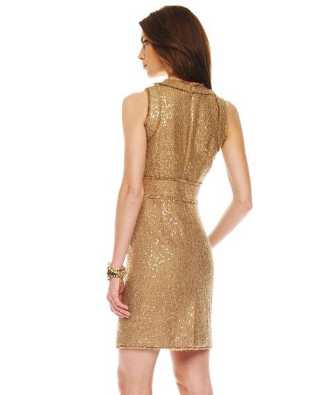 High-Waist Fringe Dress