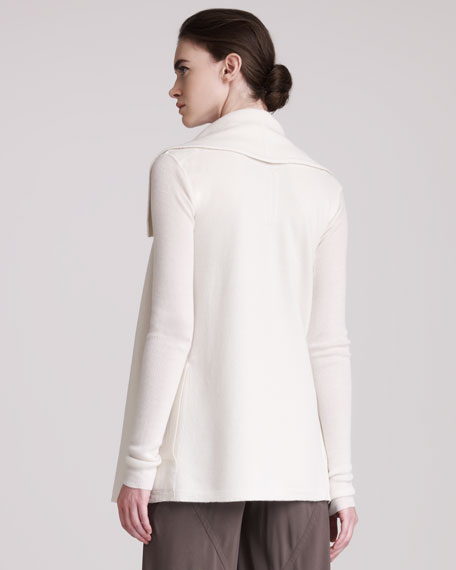 Snap-Front Cashmere Cardigan