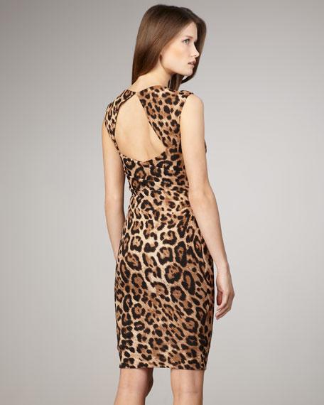 Leopard-Print Knit Dress