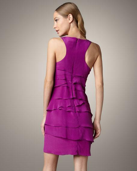 April Tiered Silk Dress