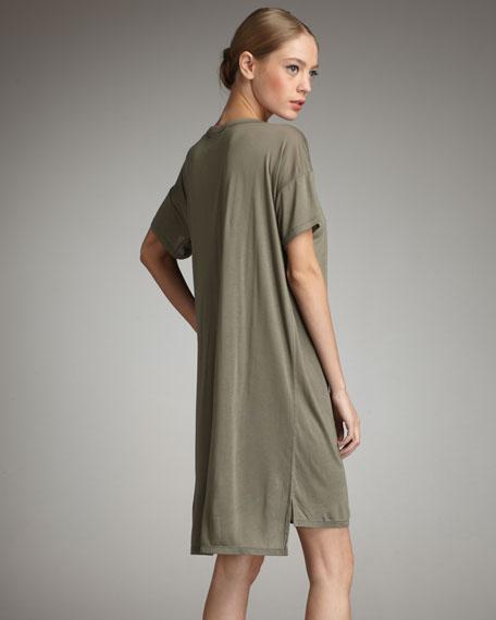 Boat-Neck Pocket Tee Dress