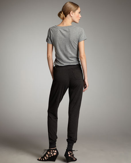 French Terry Snap-Front Pants