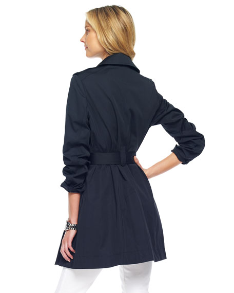 Single-Breasted Trench, Black or Truffle