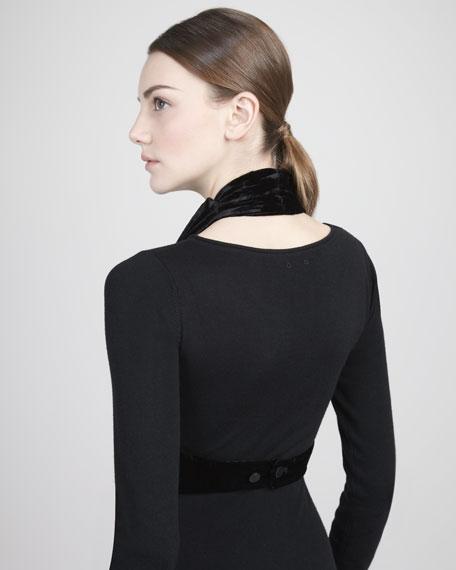 Draped Velvet Vest