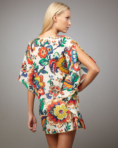 Wildflower-Print Coverup