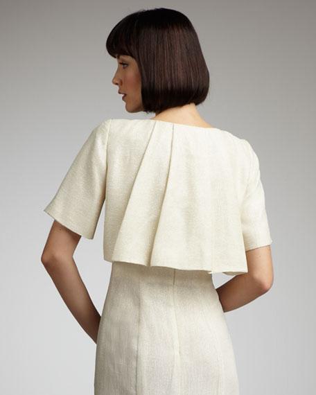 Cropped Pleat-Back Jacket