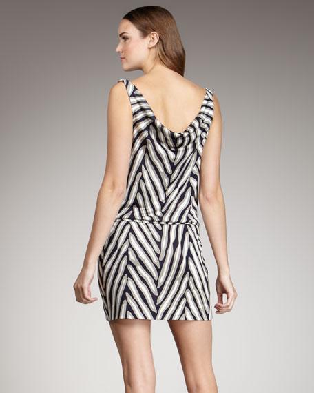 Herringbone-Print Dress