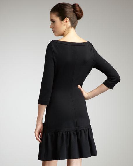 arlen off-shoulder ponte dress