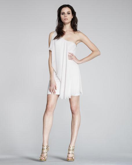 One-Shoulder Draped Dress