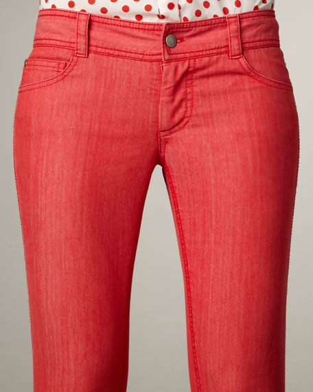 Skinny Jeans, Red