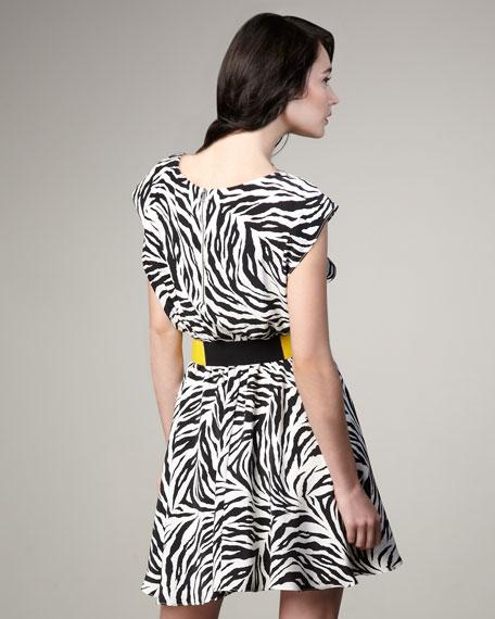 Matilda Elastic-Waist Zebra Dress