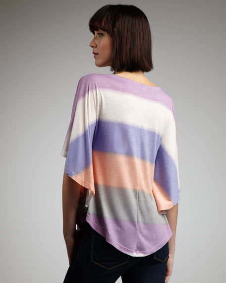 Mirage-Stripe Loose Top