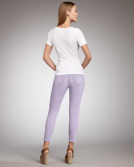Brooklyn Purple Haze Cropped Legging Jeans