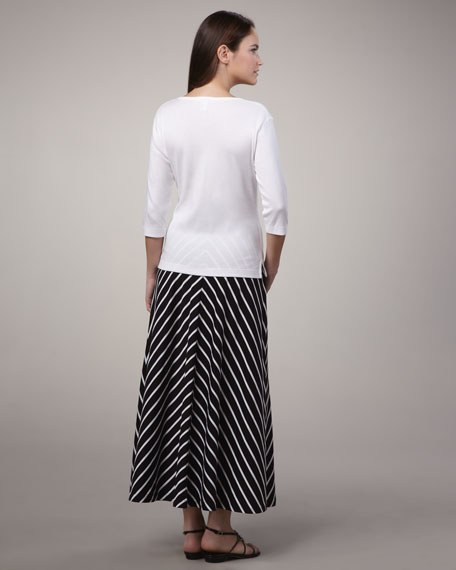 Long Striped Skirt, Petite