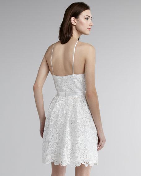 Diamond-Halter Lace Dress