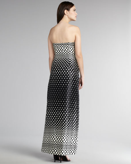 Sweetheart Dot-Print Gown