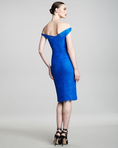 Off-the-Shoulder Tulle Dress