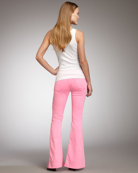 TEXTILE Elizabeth and James Jimi Flare Jeans, Shocking Pink