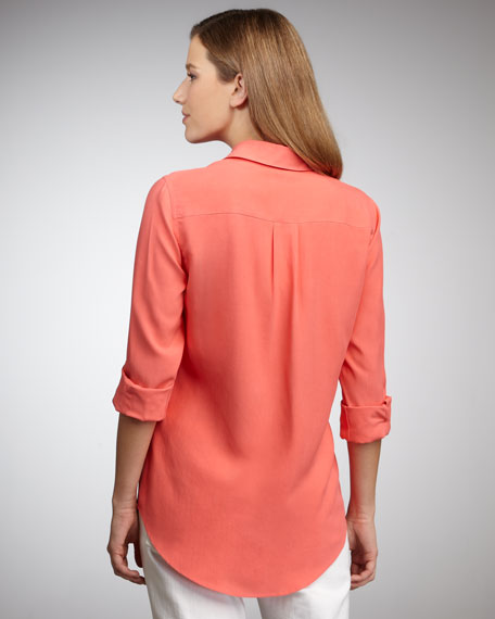 Silk Safari Blouse, Women's