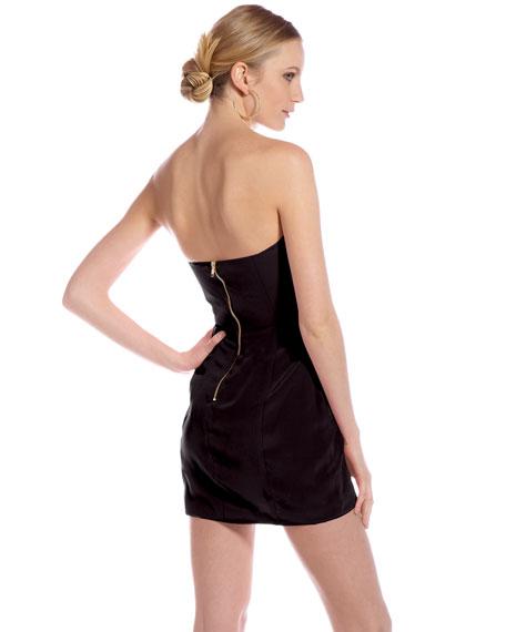 Bombshell Strapless Dress, Black (CUSP Most Loved!)