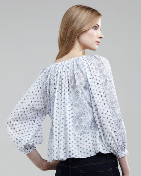 Bell Flower Patch Blouse