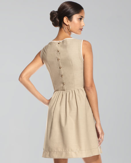 Ladiblue Contrast-Trim Dress