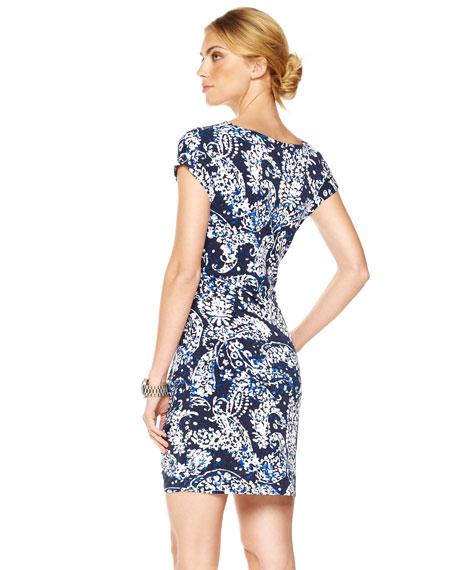 Crewneck Tie-Waist Dress