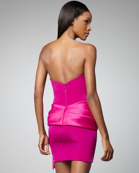 Strapless Bow-Waist Dress