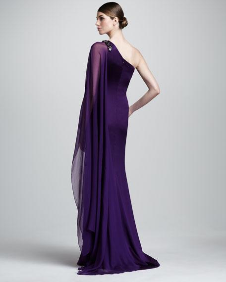 One-Sleeve Column Dress