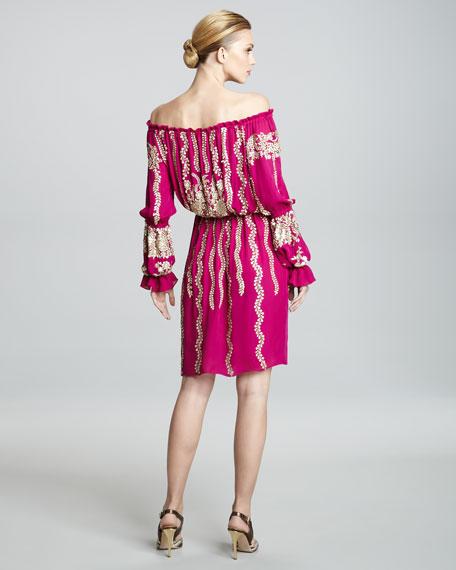 Off-the-Shoulder Peasant Dress