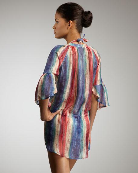 Uluwatu Shirttail Coverup Tunic